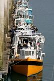 Fototapety rangée verticale de bateaux