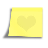 empty yellow memo on a white background poster
