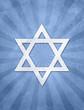 Judaism star of david over a starburst grunge