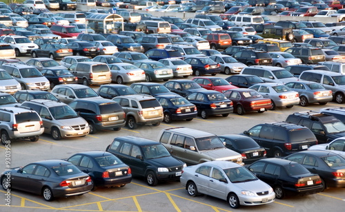 Parking lot is full of cars - 9303958