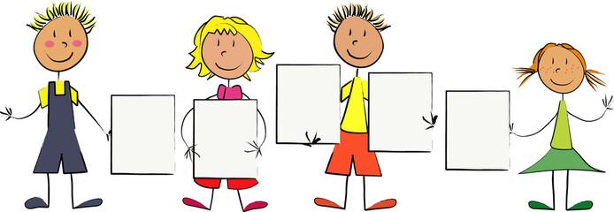enfants panneaux individuels
