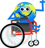 disabled globe poster