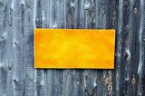 Place for announcements on a old wooden fence poster
