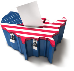 US ballot box