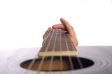 Close up observation of classical guitar parts