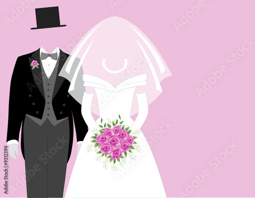 Bride and Groom  - Pink