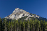 Rocky Mountains in August in Banff National Park Canada poster