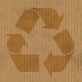 Corrugated cardboard texture with creases and wrinkles poster