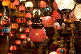 display of turkish lanterns on sale at the Grand Bazaar poster
