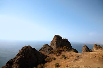 Rocks and sea, Crimea.