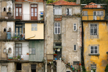 Old houses in the city of Porto