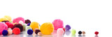 background of colorful soft balls with smooth reflection poster