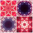 kaleidoscope fractal, flower, floral, frame