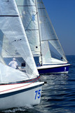 start of sailing race / yachting / sport