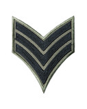 Army stripes replica - isolated cloth badge on white background poster
