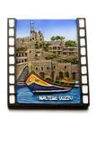malta magnet souvenir maltese scene luzzu boat harbor poster