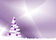fond Noël violet