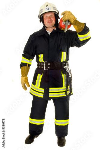 Portrait von einem Feuerwehrmann