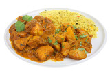 Chicken Bengal with Bombay aloo and lemon rice poster