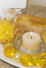 Candle and bath accessories