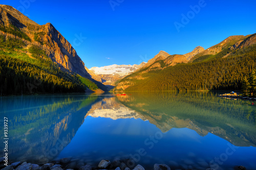 Classic view of world famous Lake Louise, Canada