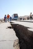 Strada dopo un terremoto in Perù