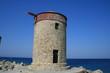 torre di controllo in riva al mare