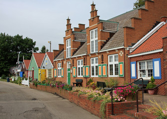 Typical Dutch architecture and village