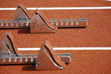 Athletisme Starting block