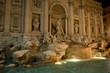 Leinwanddruck Bild - Fountain de Trevi