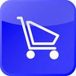 blue shopping button