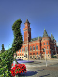helsingborg town hall HDR poster