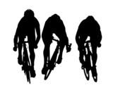Arrivée de course cycliste poster