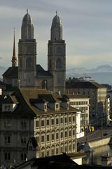 Wintertag in Zürcher Altstadt
