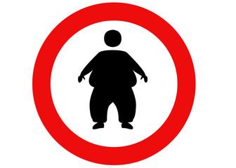 divieto di accesso persone obese
