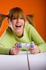 girl with a game controller 1