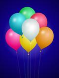 Ensemble de ballons colorés poster