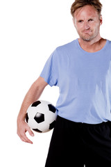 Soccer player. Full isolated studio picture
