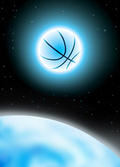 basket ball in cosmos