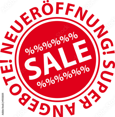 Sale, Neuerföffnung, Button, Icon
