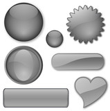 Miscellaneous Grey buttons poster
