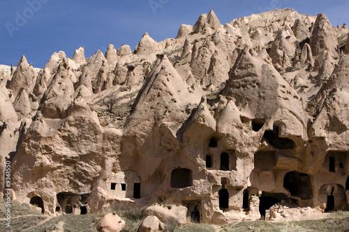 Ancient cavetown near Goreme, Cappadocia, Turkey - 9361550