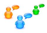 Discussion board icon poster