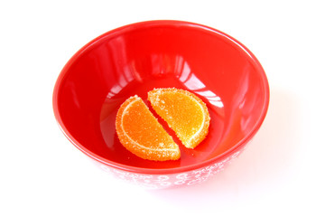 plate with marmalade