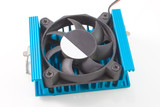 CPU Cooler isolated om black background poster
