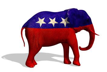 Republican Elephant - 3D render