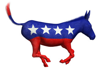 Democratic Donkey Galloping - 3D render