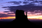 West Mitten Butte at Monument Valley during sunrise. poster