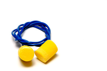 A set of ear plugs - personal protective equipment.