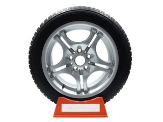car tire and rim isolated